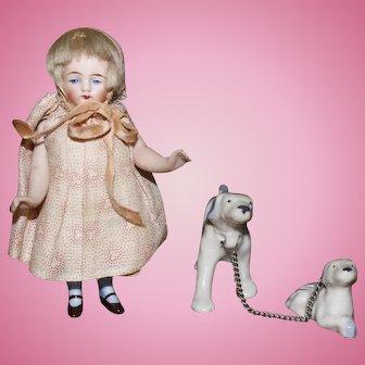 Adorable All Bisque Kestner doll