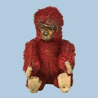 Antique Schuco Piccolo Monkey Red 1920s