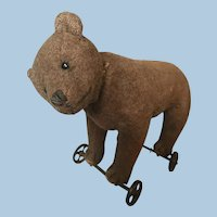 Antique Steiff Teddy Bear on Wheels 1912