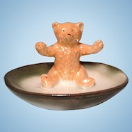 """Pink Paw"" Teddy Bear figurine"