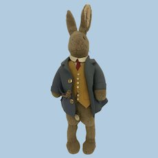 English plush dressed Rabbit 1930 possibly Farnell