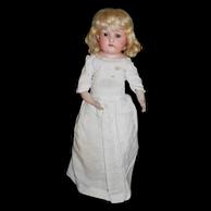 "15"" Antique Ernst Heubach Shoulderhead Doll #275"