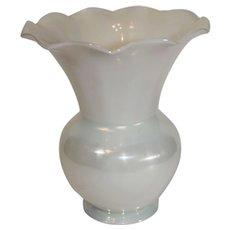 Steuben Ivory Colored Fluted Vase