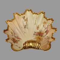 Antique Royal Worcester Blush Ivory Shell Bowl - 1896