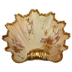 Antique Royal Worcester Shell Bowl