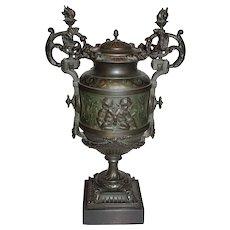 Antique Metal Urn (German Silver)