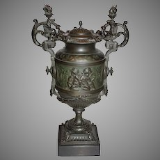 Antique Metal Urn (German Silver)