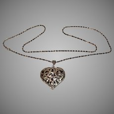 Sterling Silver Pendant Heart with Necklace