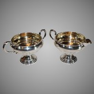 Sterling Silver Sugar and Creamer by Crown