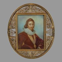 Miniature Portrait of an Italian Gentleman