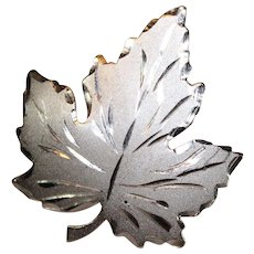 Sterling Silver Maple Leaf Pin