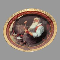"""Santa in His Workshop"" Norman Rockwell"
