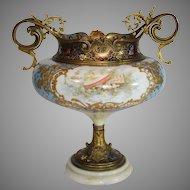 Porcelain Champleve Vintage Urn