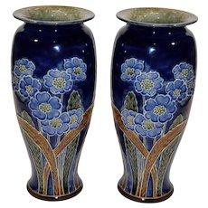 Pair of Royal Daulton Vases Signed