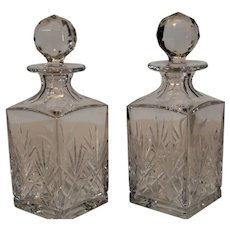 Pair of St. Louis Crystal Decanters
