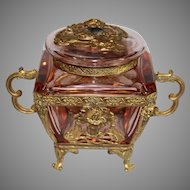 Moser Ormolu Crystal Box