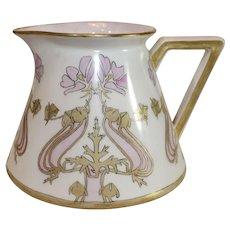 Deliniere's Antigue Limoges Porcelain Pitcher