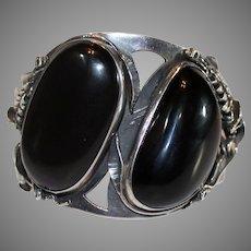 Gents 950 Silver hematite Cuff Bracelet