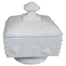 Westmorland Milk Glass Covered Candy