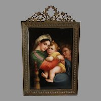 "Wagner Miniature Signed, ""The Seated Madonna"""