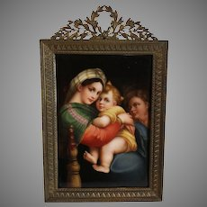"""Wagner Miniature Signed, """"The Seated Madonna"""""""
