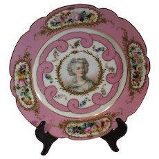 Antique Sevres Portrait Plate 1844
