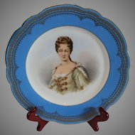 Antique Sevres Portrait of Duchesse de Bourgogue 1846