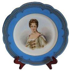 Antique Sevres Portrait of Duchesse de Bourgogue 1846