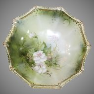 R S Prussia Footed Bowl -Red Mark 1900