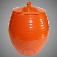 Bauer Red Multi-Ring Cookie Jar 1930s-1950s