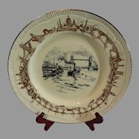 Clariss Cliff Tower Bridge Plate