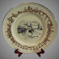 Clariss Cliff Tower Bridge Plate