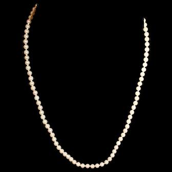 Majorica Pearl Necklace 1987