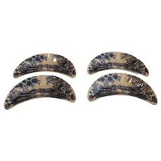 Clariss Cliff Blue Tonquin Fishbone Dishes