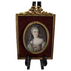 Antique Miniature Lady's Portrait