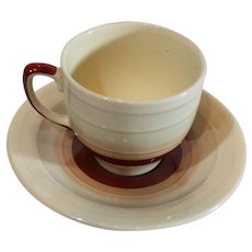 Susie Cooper Porcelain Mini-Cup and Saucer