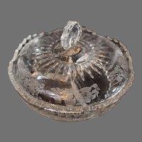 Elegant Depression Glass Divided Covered Dish
