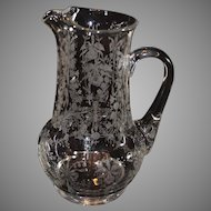 Heisey Orchid Water Pitcher