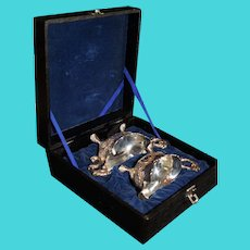 Corbell and Company Silverplate Boxed Sugar and Creamer 1950s