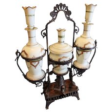 Antique  Reed and Barton Perfume and Powder Dresser Set 1800s