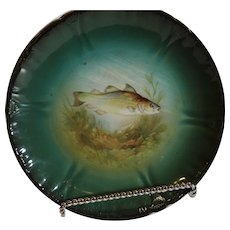 Antique Royal Bonn Fish Plate - 1852