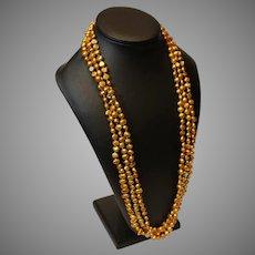 Vintage Fresh Water Pearls, Chanpagne, 3 strands