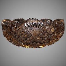Mount Wahington Glass Co. American Brilliant Cut Bowl