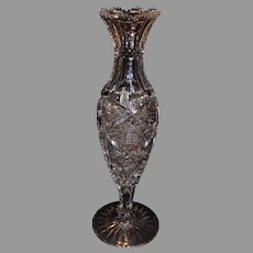 Mint American Brilliant Cut Crystal Vase