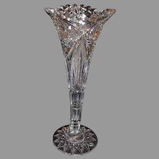 American Brilliant Cut Crystal Vase