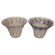 Czechoslovakian josef Inwald Birch Leaves Vases (Pair) - 1930