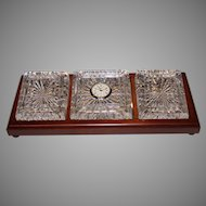 Waterford Men's Desk Clock/Paper Weights