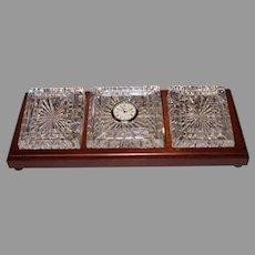 Waterford Men's Desk Clock/Paper Weights