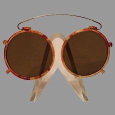 Antique Faux Tortoise Shell Sun Glasses
