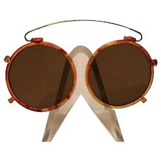 Antique Faux Tortoise Shell Sun Glasses